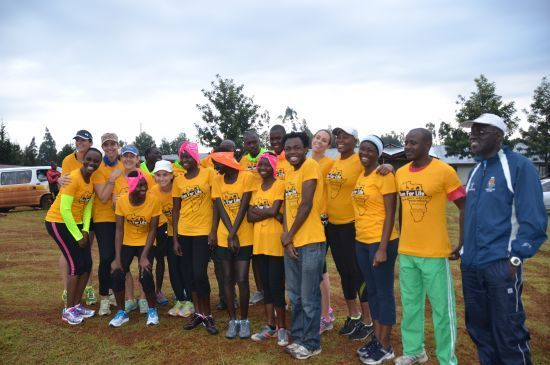 Maisha's Run for Life runners at Rift Valley Marathon