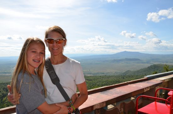Robin and Aubrey at the Rift Valley Observation Peak